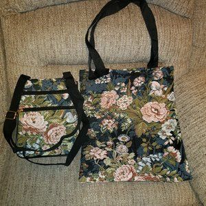 Adorable Brand New Rose Tote And Cross Body Bag!